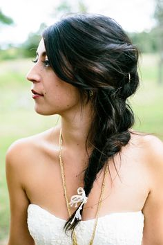 mermaid braid, photo by Emily Chidester http://ruffledblog.com/fort-mill-barn-wedding #wedding #hair #beauty