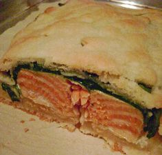Salmon In Pastry with White Wine Sauce...
