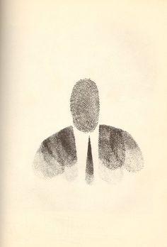 Saul Steinberg Fingerprint Man, 1951