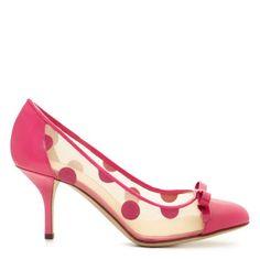 #HEELS mildr polkadot, fashion, polka dots, polkadot pump, spade mildr, heel, die, shoe, kate spade
