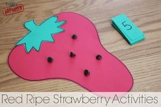 Toddler Approved! Red Ripe Strawberry Activities to go along with The Little Mouse, the Red Ripe Strawberry, and the Big Hungry Bear by Don and Audrey Wood.