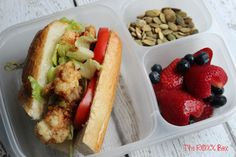 New Orleans Lobster Po' boys packed for lunch | with #EasyLunchboxes