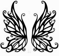 stencil printabl, fairi wing, tattoo stencil, fairi stencil, tribal tattoos, stencil tattoo, wing tattoos, fairi tattoo