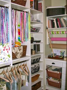 organization, closets, ribbon, closet office, sewing rooms, craft storage, home offices, crafts, craft rooms