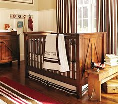 I love the barn/country style crib and changing table.