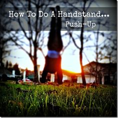 how to do a handstand pushup