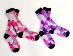 Girly camo socks