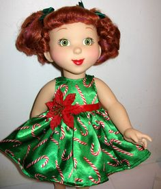 Nancy 18 quot doll christmas candy cane dress 171 helen s doll saga more