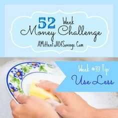 This week we're talking about spending less in the 52 Week Challenge for Money Save Ways tips!! Less IS more!