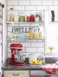 Restaurant-style #kitchen design #hgtvmagazine http://www.hgtv.com/decorating-basics/house-tour-black-white-and-red-all-over/pictures/page-7.html?soc=pinterest
