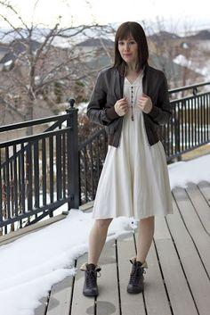 Vintage dress w/ boots