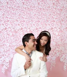 Lace Felt Garland Wedding Backdrop by TheLittleWhiteDress on Etsy, $148.00