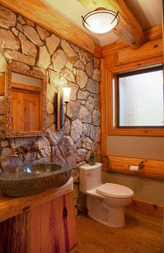 Bathrooms in log homes eclectic bathroom