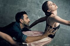 Riccardo Tisci and Rooney Mara  Photographed by Norman Jean Roy
