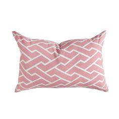 Perfect Pink Pillow for the Nursery Glider - we love the modern, geometric print, yet it's still sweet and feminine! #PNshop