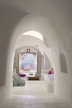 Chic cave living.The Perivolas on Santorini.