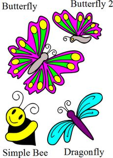 butterfly and bugs freebie svg