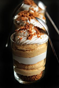 simple pumpkin cheesecake trifles can totally make vegan...yum