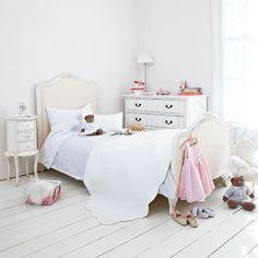 White floorboards in Girls Bedroom: Interiors
