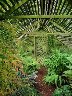 bourton hous, houses, green garden, hous garden, lath hous, garden idea, greenhous, green hous, moss cover