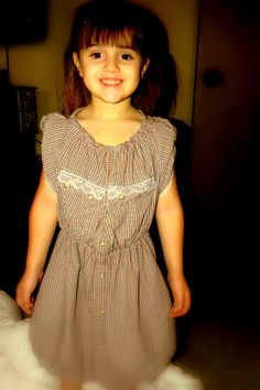 The men's Shirt to children's dress, I like it but it takes a little time.