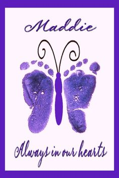 Baby feet butterfly. Great idea.