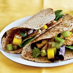 Fish Tacos with Mango Salsa Verde | CookingLight.com
