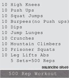 500 Rep Workout