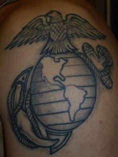 USMC tattoos design eagle
