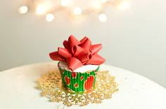 Gift Bow Cupcake Topper