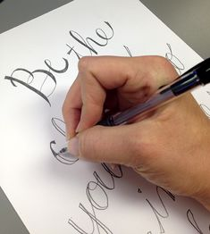 DIY calligraphy - 3 easy steps that anyone can do for beautiful handwritten calligraphy