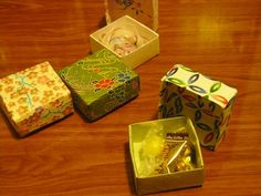 Origami Box Instructions: Great for making gift boxes w/ pretty paper.