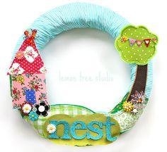 NEST -- a Whimsical (Mixed Media) Wreath