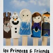 Ice Princess In The Hoop Finger Puppets - via @Craftsy