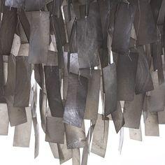 Large Rectangle Hanging Capiz Pendant - Gray | west elm