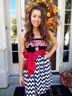 Custom Game Day Dress (College, NFL, Any Sport) using YOUR tee shirt, mailed to me via Etsy