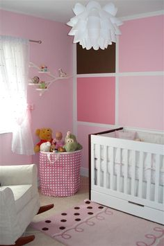 Kids room wall with squares! Color scheme would need changing, obvi