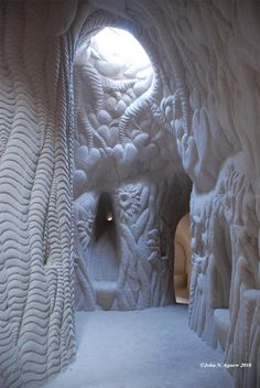 robynroze:  Hand carved cave in Abiquiu, NM near Ghost Ranch. Abiquiu is a small unincorporated town located in Rio Arriba County, in northe...