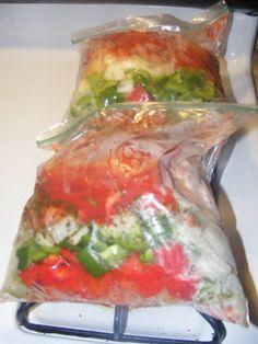 One Horse Thrift: Crock Pot Freezer Meal #1 jambalaya