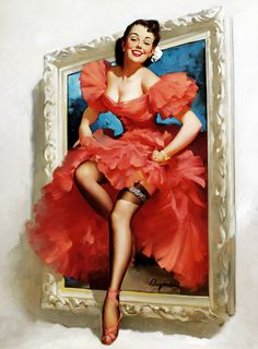 """Stepping Out"" by Gil Elvgren, 1955"