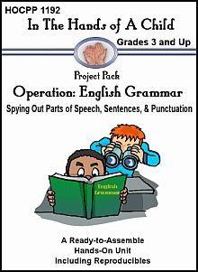 Operation: English Grammar Lapbook