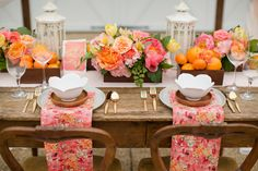Blush and Citrus Summer Inspiration Tablescape