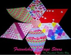 "Come Read ""The Shape of My Heart"" by Mark Sperring and create FRIENDSHIP COLLAGE STARS with us! Free Templates to print."