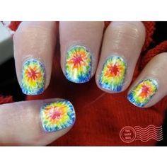 tie-dye nails!