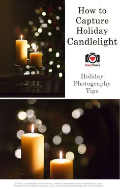 Tips for Photographing Holiday Candlelight  #iheartfaces #photography