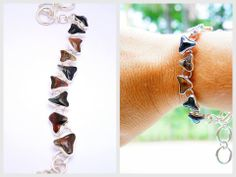 by Ek Art Jewelry Costa Rica, #sharktooth #fossil #bracelet  #jewelry #costarica #tamarindo #boho
