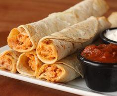 Easy Chicken Flautas from favfamilyrecipes.com #recipes #flautas #chicken