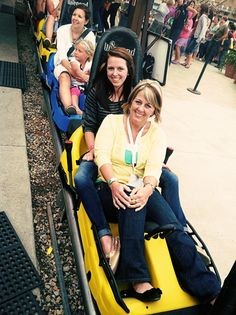 @Cheryl Tidymom and daughter having some fun on the roller coaster:) via http://tidymom.net/2011/shutterfly/