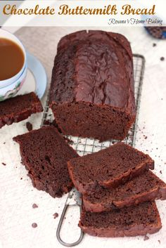 Chocolate-buttermilk quick bread