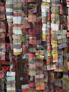 another anthropologie installation @Katie Hrubec Schmeltzer Johnson , do you mean this type of thing for sewing paper garlands?